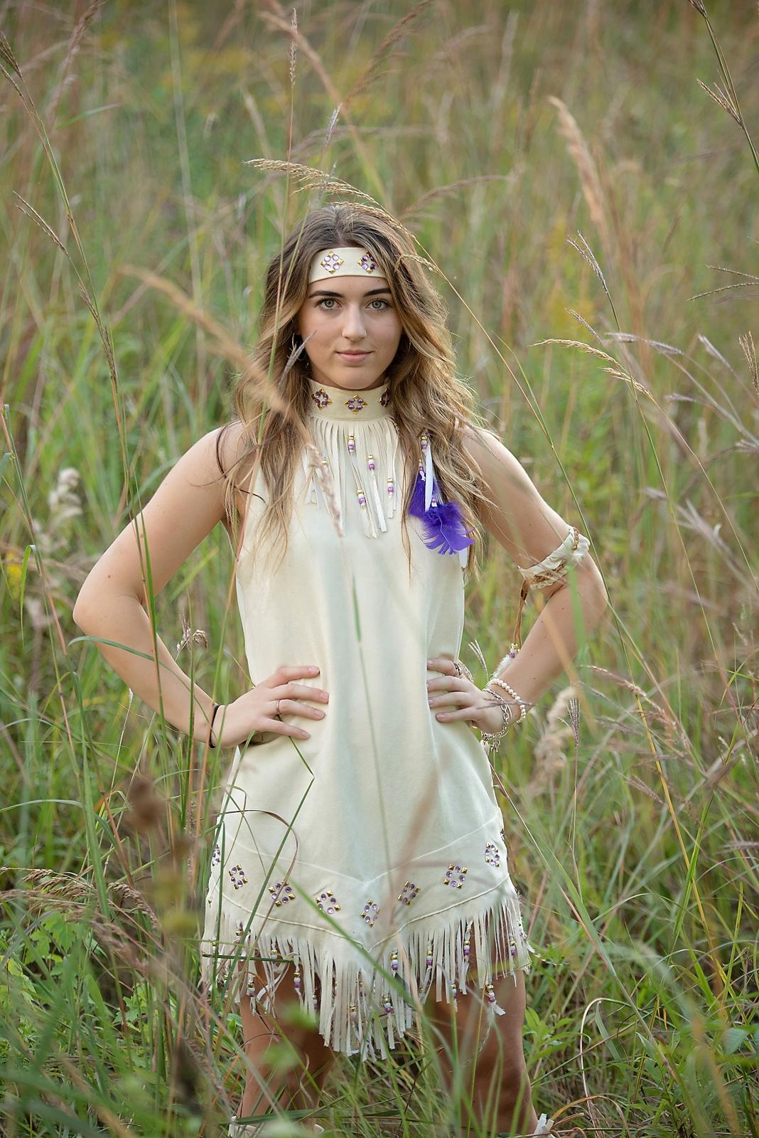 Senior Photo In Prairie Grass