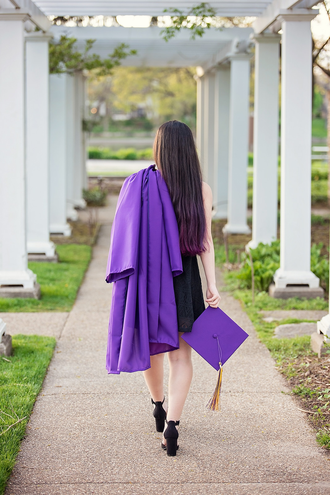 Cap and Gown Senior Photo Candid